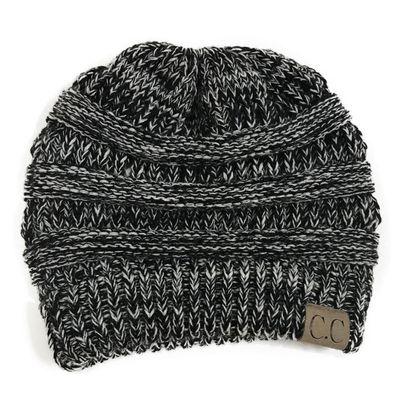 88feb9fd7c1c Black White Women Fashion Casual Crochet Knit Hats Skullies Beanie Hat  Winter Warm Cap