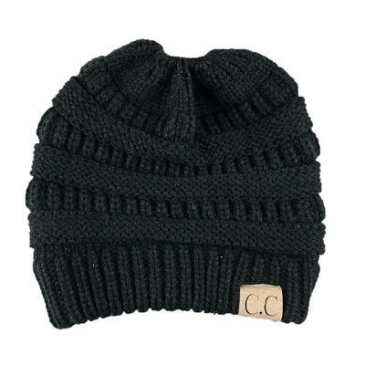 c5161234e783 Black Women Fashion Casual Crochet Knit Hats Skullies Beanie Hat Winter  Warm Cap