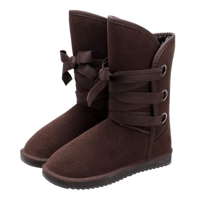 e3b436bc7 Coffee Fashion Women Winter Thick Snow Boot Faux Fur Ankle Straps Boots  Shoes