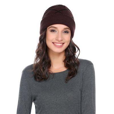 0467ec402a79 Coffee Women/Men Fashion Casual Fall/Winter Woolen Knit Comfort Warm Plaids  Hat
