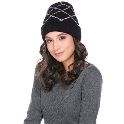 0fda1a1d1d9d Black Women/Men Fashion Casual Fall/Winter Woolen Knit Comfort Warm Plaids  Hat
