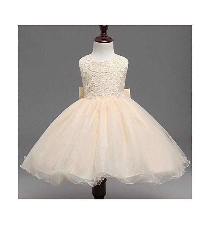 d47bcc12ed064 Elegant Champagne Girls Frocks Designer Baby Clothes Girls | Online ...